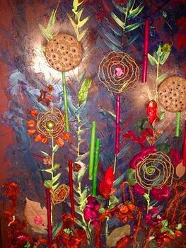 Декоративная композиция - настенное панно