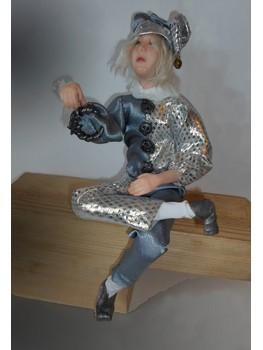 Серебряный Шут, коллекционные куклы ручной работы
