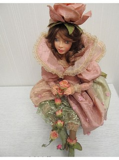 RozovayaFeya, коллекционные куклы ручной работы