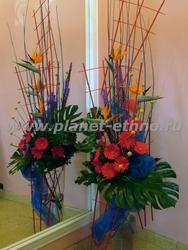 фитодизайн ресторана – сменная композиция из сухоцветов