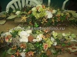 цветочное оформление помещений - флористические композиции из сухоцветов, срезки и искусственных материалов