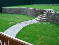 мощение - подпорная стенка из природного камня