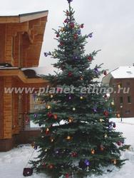 новогоднее оформление и монтаж елок