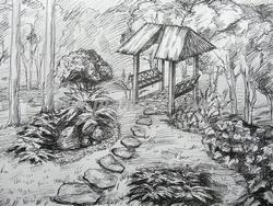 ландшафтное проектирование участка - видовой рисунок