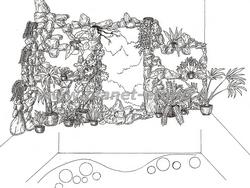 зимний сад - разработка дизайна